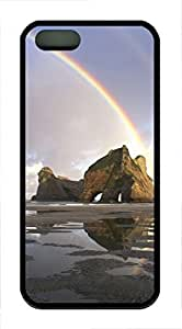 For Case Samsung Galaxy Note 2 N7100 Cover Case Double Rainbows over a rock formation PC Custom For Case Samsung Galaxy Note 2 N7100 Cover Black