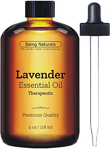 Therapeutic Lavender Essential Oil - Huge 4 OZ - Premium Lavender Oil with Glass Dropper