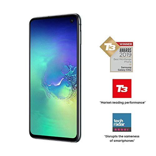 Samsung Galaxy S10e 128GB SM-G970F/DS Hybrid/Dual-SIM (GSM Only, No CDMA) Factory Unlocked 4G/LTE Smartphone - International Version No Warranty (Prism Green)