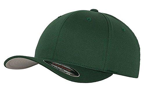 Maddmax Car Art 2008-17 Dodge Challenger Classic Outline Design Flexfit hat Cap Large/XLarge Green