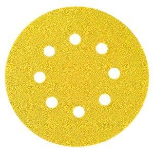 5'' x NH Hook & Loop 8 Hole C-Wt 120 Grit Aluminum Oxide Paper Disc