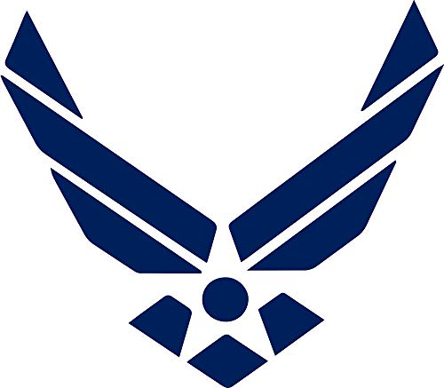 ANGDEST Air Force (Navy Blue) Waterproof Vinyl Decal