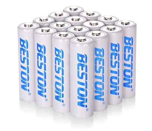 AA Batteries, BESTON 2000mAh Rechargeable NiMH Double A Batteries with High Capacity for Clocks, Remotes, Games Controllers, Toys & Electronic Devices(16 Pack)