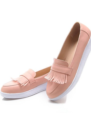 Mujer Casual Mocasines Zq Vestido Comfort Cn39 us8 Eu39 Punta Beige Plataforma Uk6 Beige Zapatos Blanco Pink Semicuero us8 Redonda De Rosa 4pqw0nqzE1