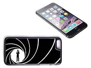 iPhone 6 Plus Black Plastic Hard Case with High Gloss Printed Insert James Bond