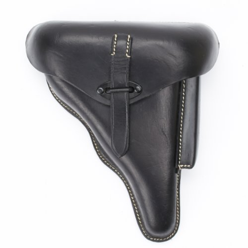 German WWII P38 Hardshell Black Leather Holster, P-38