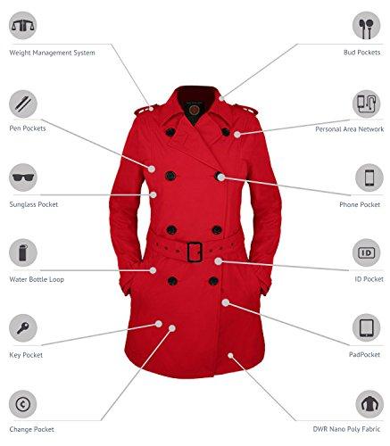 SCOTTeVEST Women's Trench Coat - 18 Pockets - Travel Clothing PRW S