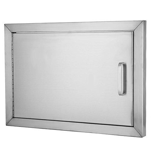 BestEquip BBQ Island 304 Stainless Door Single Access BBQ Door 14x20inch Single Door Flush Mount (14H x 20W)