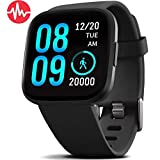 8. FITVII Health & Fitness Smart Watch with Blood Pressure Heart Rate Monitor, ip68 Waterproof Bluetooth Smartwatch for Android iOS Phone,Sleep Tracking Calorie Counter,Pedometer Stopwatch for Women Men