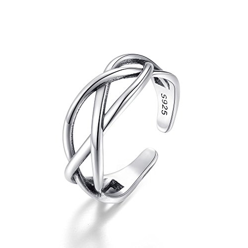 Kokoma Celtic Knot Ring 925 Sterling Silver (Three Lines) ()