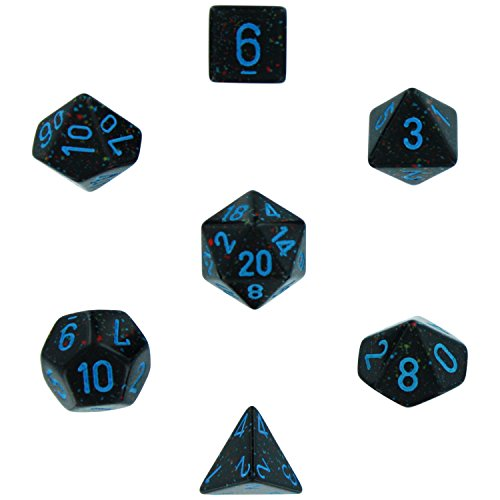 Polyhedral 7 Die Speckled Dice Set