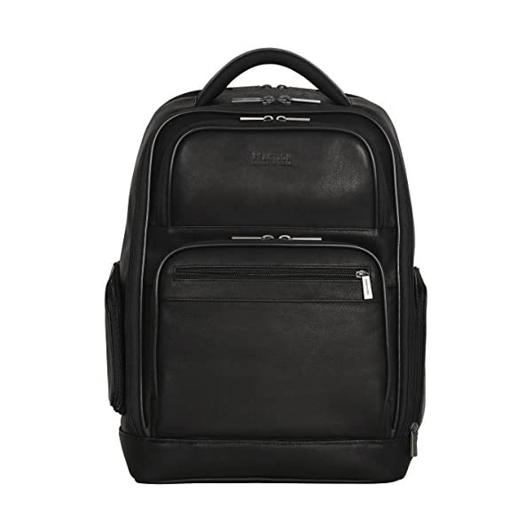 "Kenneth Cole Reaction Colombian Leather Double Compartment Dual Pocket 15.6"" Computer Backpack (rfid) Laptop Backpack Kenneth Cole Reaction Colombian Leather Dual Compartment 15.6″ Laptop Anti-Theft RFID Business Backpack, Black 41j1 2BKrUbGL"