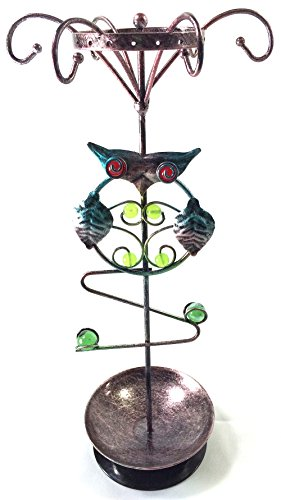 Bejeweled DisplayOwl Shape Earring Tree~Bracelet ~Necklace Organizer Combo Jewelry - Stand Tree Earring Display Shape