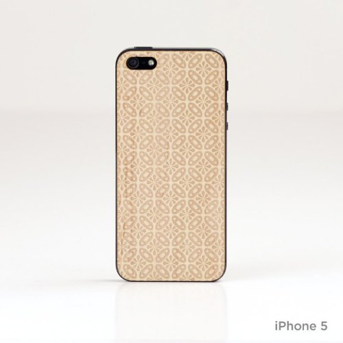 Lazerwood 25500 Holz Cover für Apple iPhone 5/5S inkl. Displayschutzfolie Nina-Maple