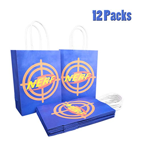 12 Target Bags for Nerf Party, Gift/Goody/Treat/Candy/Favor Bags for Nerf Birthday -