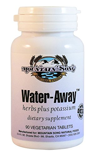 Water Away Herbal Diuretic Water Pills. Natural Support to Reduce Bloating by Mountain Song