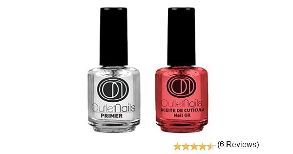 Pack Primer 15ml + 1 Aceite de Cutícula 15ml para uñas / uñas acrilicas / sin acidos / Primer uñas acrílicas / Primer uñas esculpidas: Amazon.es: Belleza