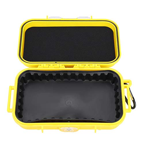 Vbestlife Plastic Waterproof Shockproof Box Outdoor Waterproof Airtight Survival Case Storage Case Floating Hard Shell Wet Dry Box Carry Box Container Marine Fishfinder Case 4 Colors
