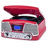 Vitrola Red com CD, FM, SD, USB e Bluetooth, Bivolt, Raveo, Harmony BT, 10