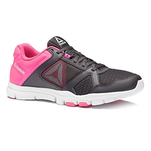 Reebok WoMen Yourflex Trainette 10 Mt Fitness Shoes, Grey, 5.5 Grey (Smoky Volcano/Acid Pink/Wht 000)