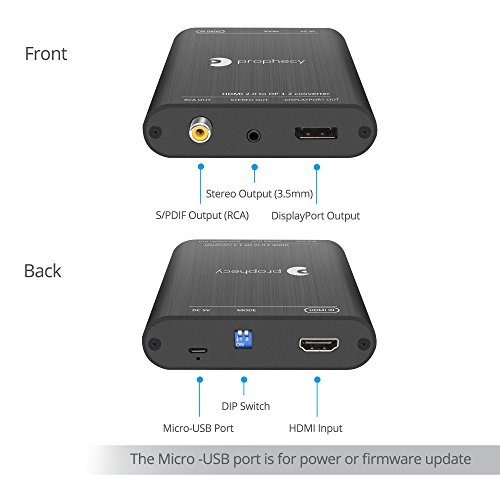 gofanco Prophecy HDMI 2 0 to DisplayPort 1 2 Converter – 4K
