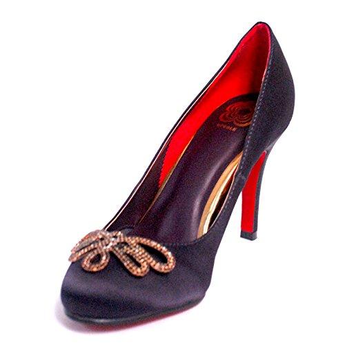 (BF Sole Women's Sandal Purple Satin High Heel Stiletto Pump Shoe 6 B(M) US)