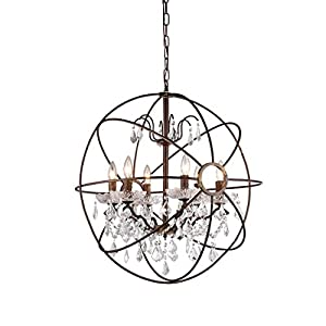 whse of tiffany rl8049 edwards antique bronze and crystal chandelier amazoncom - Tiffany Chandelier