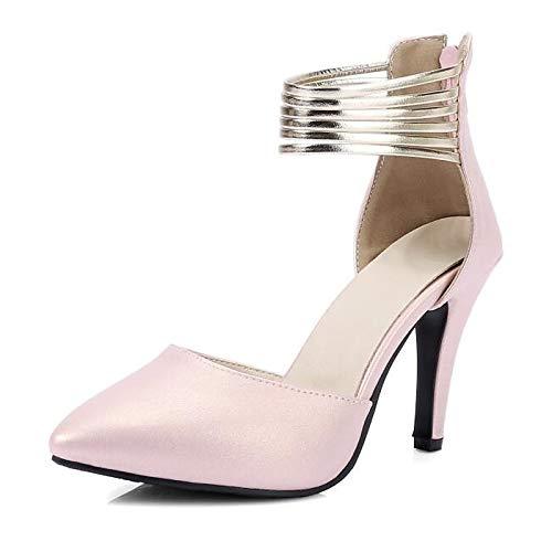 Talón Comodidad De QOIQNLSN Tacones Primavera Negro Mujer Rosa Black Zapatos Stiletto Blanco q7wwxA0