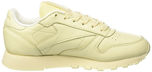 Reebok Cl Lthr Pastels, Sneakers para Mujer Amarillo (Washed Yellow/white)
