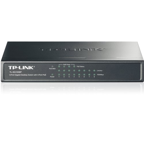 TP-LINK 8-Port Gigabit Ethernet PoE Desktop Switch with 4 PoE Ports (TL-SG1008P)