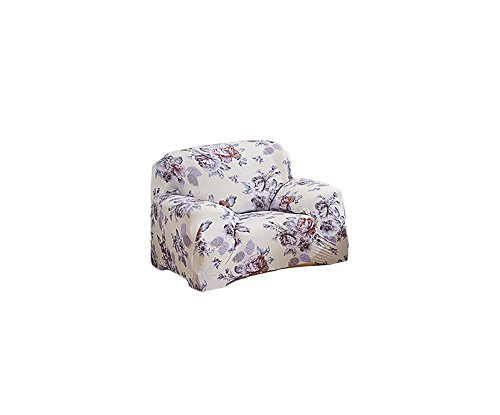 inrisesgrand Floral Printed Sofa Cover Anti-Slip Elastic Slipcover Stretch Polyester Fabric Soft Furniture Protector Couch Cover (One seater(35''-55''), Anny Garden)