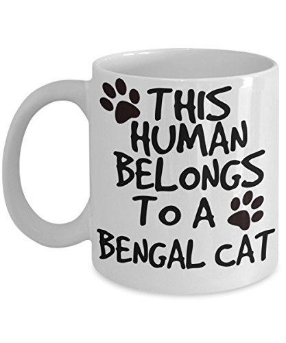Bengal Cat Mug - White 11oz Ceramic Tea Coffee Cup - Perfect For Travel And Gifts