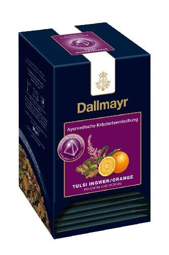 Dallmayr Teepyramiden - Ayurvedischer Tee - Tulsi Ingwer / Orange, 1er Pack (1 x 50 g)