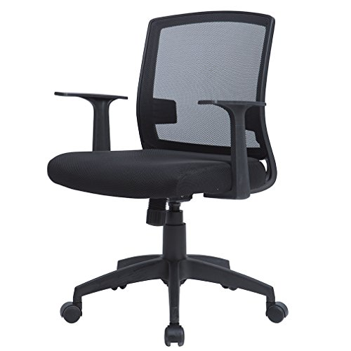 MR Direct Office Chair Mid Back Swivel Lumbar Support Desk Task Chair, Computer Ergonomic Mesh Chair With Armrest by Paylesshere