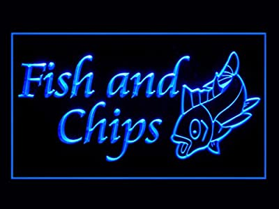 Fish and Chips Snack Shop Restaurant Display Led Light Sign