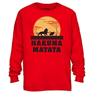 e760c268584 Disney Lion King Hakuna Matata Pumbaa Timon Africa Simba Mufasa Disneyland  World Tee Adult Graphic Long Sleeve Shirt
