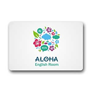 "yimao Aloha Felpudo, 23.6""x 15.7"" decorativa Felpudo usa-produced estándar Indoor-Outdoor funda Mat"