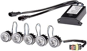 Hella Leday Flex Modulare Led Tagfahrleuchten Set 5 Lichtmodule Tagfahrlicht Aluminiumgehäuse 12v 24v 2pt 010 458 801 Auto