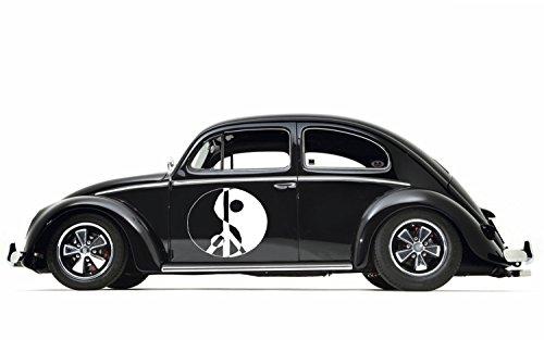 Yin Yang Peace Sign Hippie Woodstock Love Not War Joy Car Truck SUV Vinyl Graphics Sticker Decal Tr071 B