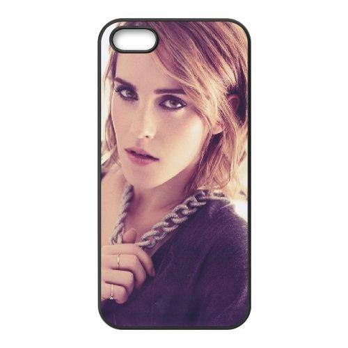 Emma Watson Fashion coque iPhone 5 5S cellulaire cas coque de téléphone cas téléphone cellulaire noir couvercle EOKXLLNCD23529