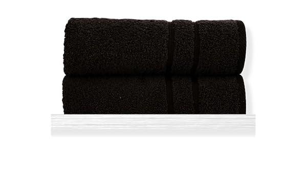 Sorema Basic - Toalla para lavabo, de algodón, 50 x 100 cm, color marrón: Amazon.es: Hogar