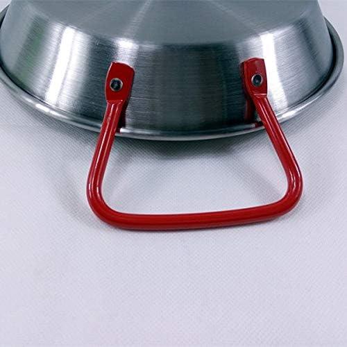 CJTMY Très épais en Acier Inoxydable Pot à Sec, sans Gaine en Acier Inoxydable Poêle à Sec Pot Binaural Pan