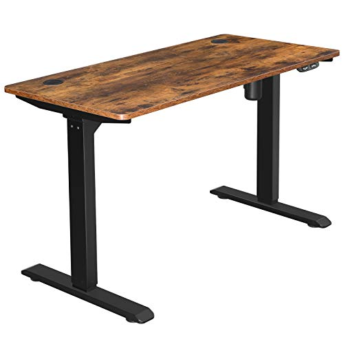SONGMICS-472-x-236-Inches-Electric-Writing-Desk-Standing-Desk-Motorized-Workstation-with-Continuously-Adjustable-Height-Motor-Rustic-Brown-and-Black-ULSD011B01