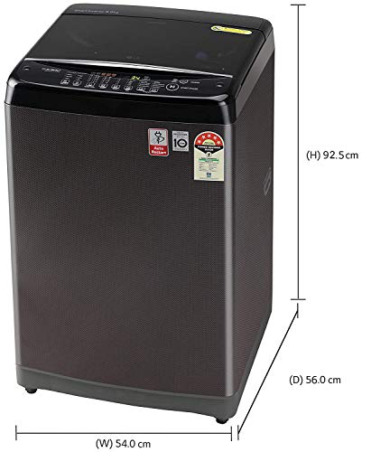 LG 8.0 Kg Inverter Fully-Automatic Top Loading Washing Machine (T80SJBK1Z, Black Knight) 2021 June Fully-automatic top-loading washing machine; 8.0 kg Warranty: 2 years on product, 10 years on motor Smart inverter technology