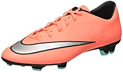 Nike Men's Mercurial Victory V Soccer Cleat Bright Mangometallic Silver Size 10 M Us