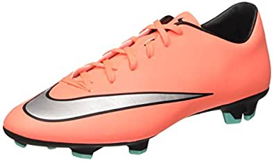 Men's Nike Mercurial Victory V Soccer Cleat Bright Mango/Metallic Silver Size 6.5 M US