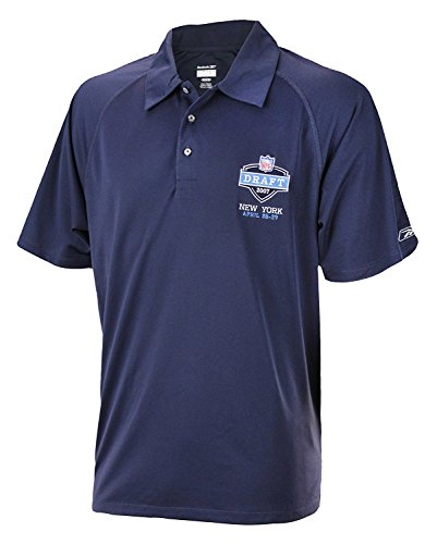 Mens Reebok 2007 NFL Draft Performance PlayDry Polo, Navy ()