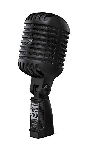 Shure Super 55-BLK Deluxe Vocal Microphone (2017 Limited Edition Pitch - Black 55
