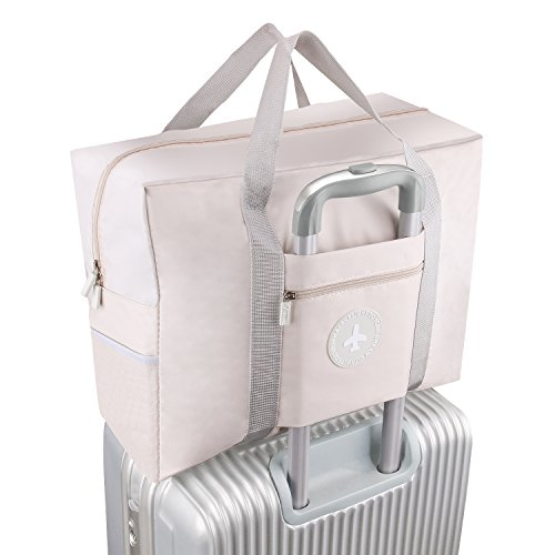 Foldable Travel Bag Waterproof Travel Tote Bag Foldable Bag Fully Lined with Gray Fabric (UPGRADE) by MuYiZi