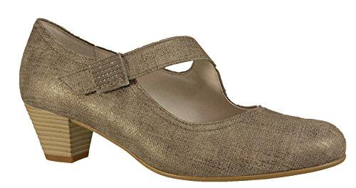 Gabor 46.145.91 - Zapatos de vestir de Piel para mujer Gris gris Dorado - dorado